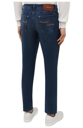 Мужские джинсы ZILLI синего цвета, арт. MCV-00091-DESA1/S001   Фото 4