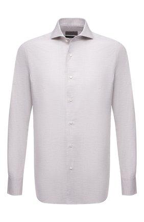 Мужская хлопковая сорочка CANALI серого цвета, арт. XXC5/GX02176 | Фото 1