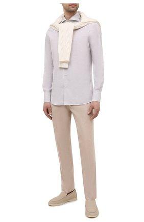 Мужская хлопковая сорочка CANALI серого цвета, арт. XXC5/GX02176 | Фото 2