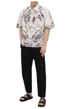 Мужские кожаные шлепанцы PALM ANGELS черного цвета, арт. PMIH001S21LEA0011001 | Фото 2