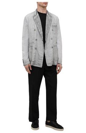 Мужской пиджак из вискозы и льна GIORGIO ARMANI серого цвета, арт. 1SGGG0N3/T02IE | Фото 2 (Материал внешний: Вискоза, Лен; Рукава: Длинные; Материал подклада: Вискоза; Длина (для топов): Стандартные; Стили: Кэжуэл; 1-2-бортные: Двубортные; Пиджаки М: Приталенный; Случай: Повседневный)