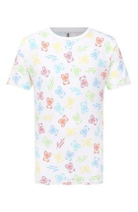 Мужская хлопковая футболка MOSCHINO белого цвета, арт. A1906/8108 | Фото 1