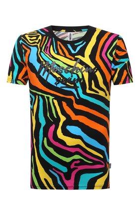 Мужская хлопковая футболка MOSCHINO разноцветного цвета, арт. A1909/2321 | Фото 1