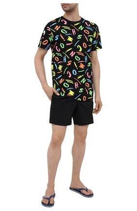 Мужская хлопковая футболка MOSCHINO разноцветного цвета, арт. A1911/2338 | Фото 2