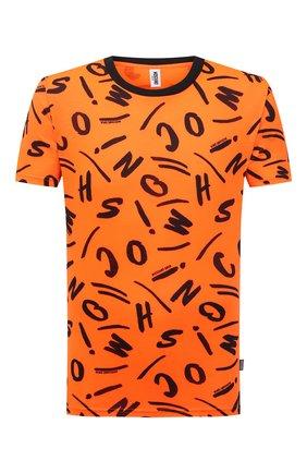 Мужская футболка MOSCHINO оранжевого цвета, арт. A1913/2340 | Фото 1