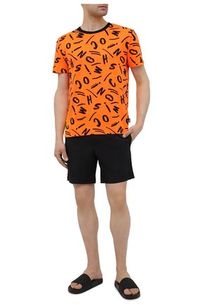 Мужская футболка MOSCHINO оранжевого цвета, арт. A1913/2340 | Фото 2