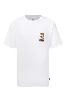 Мужская хлопковая футболка MOSCHINO белого цвета, арт. A1923/8125 | Фото 1