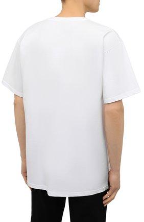 Мужская хлопковая футболка MOSCHINO белого цвета, арт. A1923/8125   Фото 4 (Кросс-КТ: домашняя одежда; Рукава: Короткие; Длина (для топов): Стандартные; Материал внешний: Хлопок; Мужское Кросс-КТ: Футболка-белье)