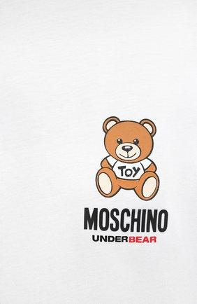 Мужская хлопковая футболка MOSCHINO белого цвета, арт. A1923/8125   Фото 5 (Кросс-КТ: домашняя одежда; Рукава: Короткие; Длина (для топов): Стандартные; Материал внешний: Хлопок; Мужское Кросс-КТ: Футболка-белье)