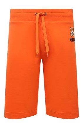 Мужские хлопковые шорты MOSCHINO оранжевого цвета, арт. A4325/8120 | Фото 1 (Материал внешний: Хлопок; Кросс-КТ: домашняя одежда)