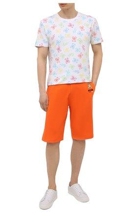 Мужские хлопковые шорты MOSCHINO оранжевого цвета, арт. A4325/8120 | Фото 2 (Материал внешний: Хлопок; Кросс-КТ: домашняя одежда)