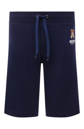Мужские хлопковые шорты MOSCHINO темно-синего цвета, арт. A4325/8120 | Фото 1 (Кросс-КТ: домашняя одежда; Материал внешний: Хлопок)