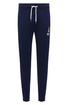 Мужские хлопковые джоггеры MOSCHINO темно-синего цвета, арт. A4326/8120 | Фото 1 (Материал внешний: Хлопок; Длина (брюки, джинсы): Стандартные; Мужское Кросс-КТ: Брюки-белье; Кросс-КТ: домашняя одежда)