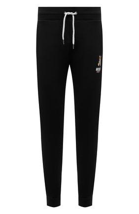 Мужские хлопковые джоггеры MOSCHINO черного цвета, арт. A4326/8120 | Фото 1 (Материал внешний: Хлопок; Длина (брюки, джинсы): Стандартные; Кросс-КТ: домашняя одежда; Мужское Кросс-КТ: Брюки-белье)