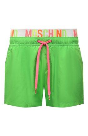 Мужские плавки-шорты MOSCHINO зеленого цвета, арт. A6109/2302 | Фото 1 (Материал внешний: Синтетический материал)