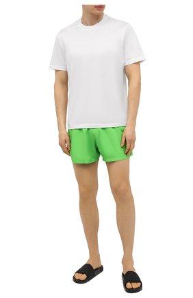 Мужские плавки-шорты MOSCHINO зеленого цвета, арт. A6109/2302 | Фото 2 (Материал внешний: Синтетический материал)