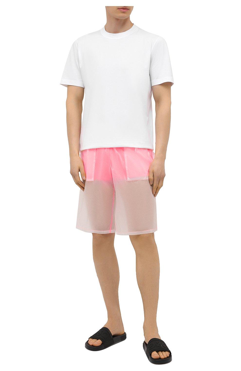 Мужские плавки-шорты MOSCHINO розового цвета, арт. A6164/2313   Фото 2 (Принт: Без принта; Материал внешний: Синтетический материал; Мужское Кросс-КТ: плавки-шорты)
