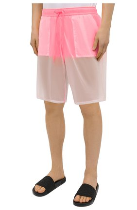 Мужские плавки-шорты MOSCHINO розового цвета, арт. A6164/2313   Фото 3 (Принт: Без принта; Материал внешний: Синтетический материал; Мужское Кросс-КТ: плавки-шорты)