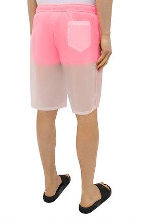 Мужские плавки-шорты MOSCHINO розового цвета, арт. A6164/2313   Фото 4 (Принт: Без принта; Материал внешний: Синтетический материал; Мужское Кросс-КТ: плавки-шорты)