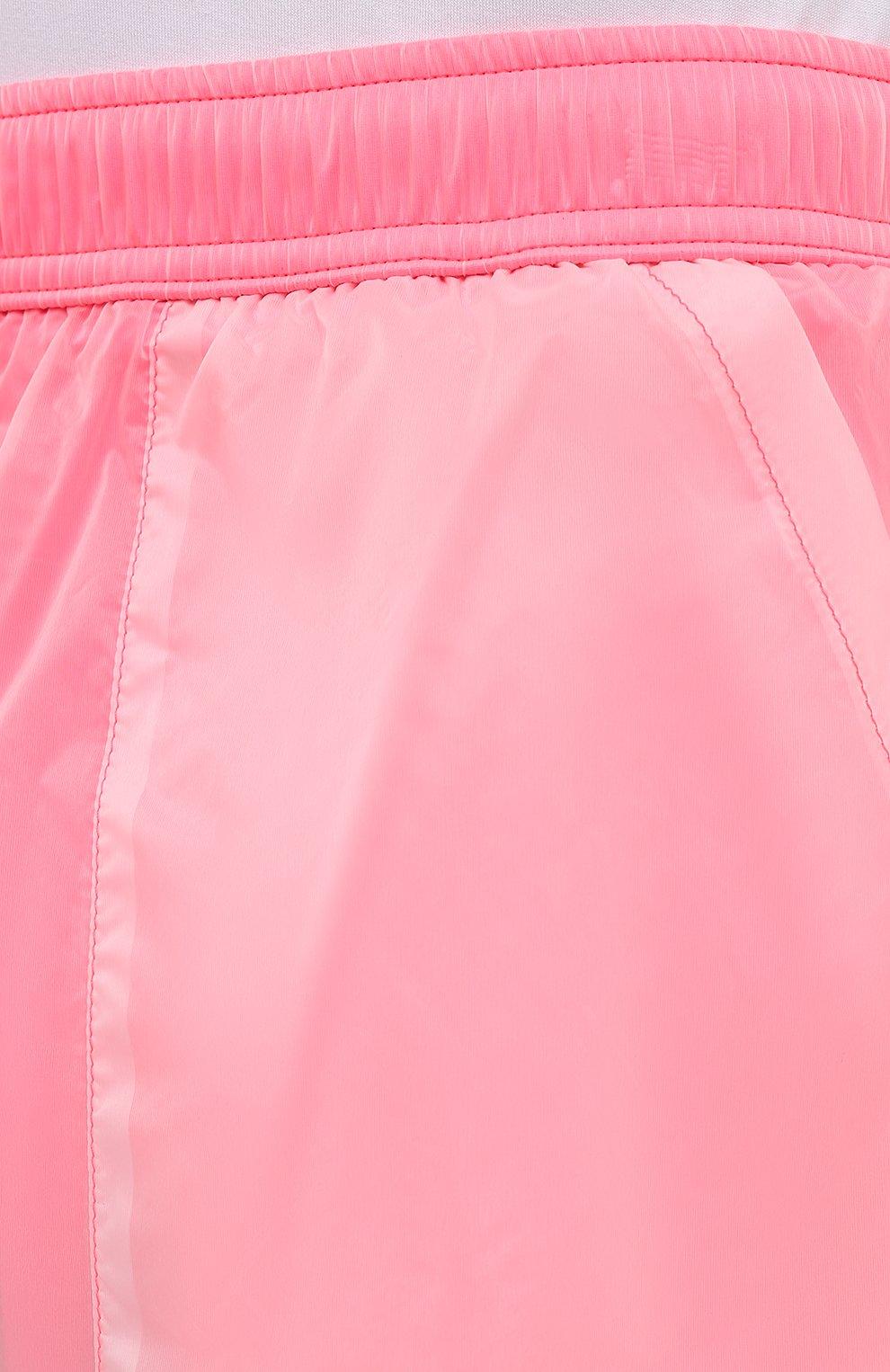 Мужские плавки-шорты MOSCHINO розового цвета, арт. A6164/2313   Фото 5 (Принт: Без принта; Материал внешний: Синтетический материал; Мужское Кросс-КТ: плавки-шорты)