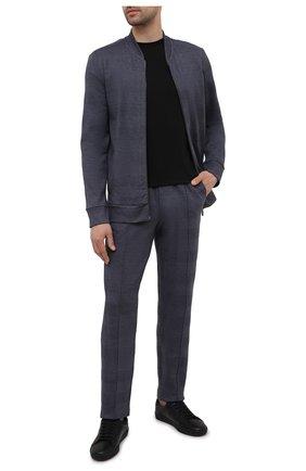 Мужская хлопковая футболка DSQUARED2 черного цвета, арт. D9M203520 | Фото 2 (Длина (для топов): Стандартные; Кросс-КТ: домашняя одежда; Мужское Кросс-КТ: Футболка-белье; Материал внешний: Хлопок; Рукава: Короткие)
