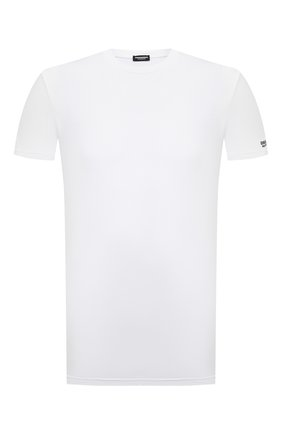 Мужская хлопковая футболка DSQUARED2 белого цвета, арт. D9M203520   Фото 1