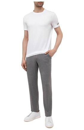 Мужская хлопковая футболка DSQUARED2 белого цвета, арт. D9M203520   Фото 2