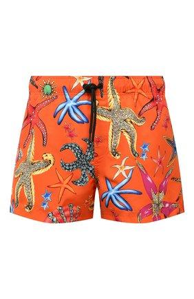 Мужские плавки-шорты VERSACE оранжевого цвета, арт. ABU90003/1F01225 | Фото 1
