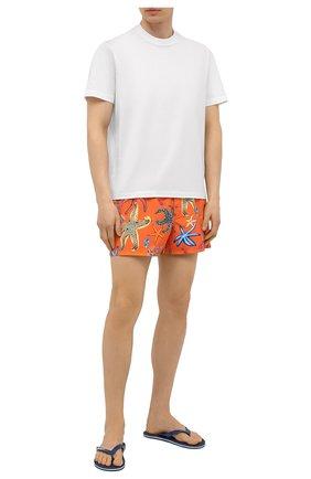 Мужские плавки-шорты VERSACE оранжевого цвета, арт. ABU90003/1F01225 | Фото 2