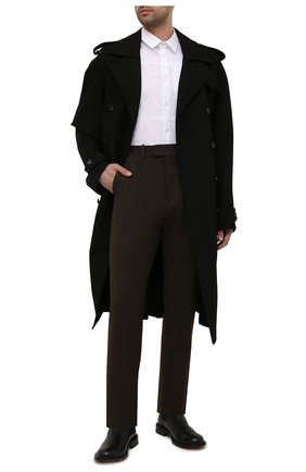 Мужская хлопковая рубашка A-COLD-WALL* белого цвета, арт. ACWMSH030 | Фото 2