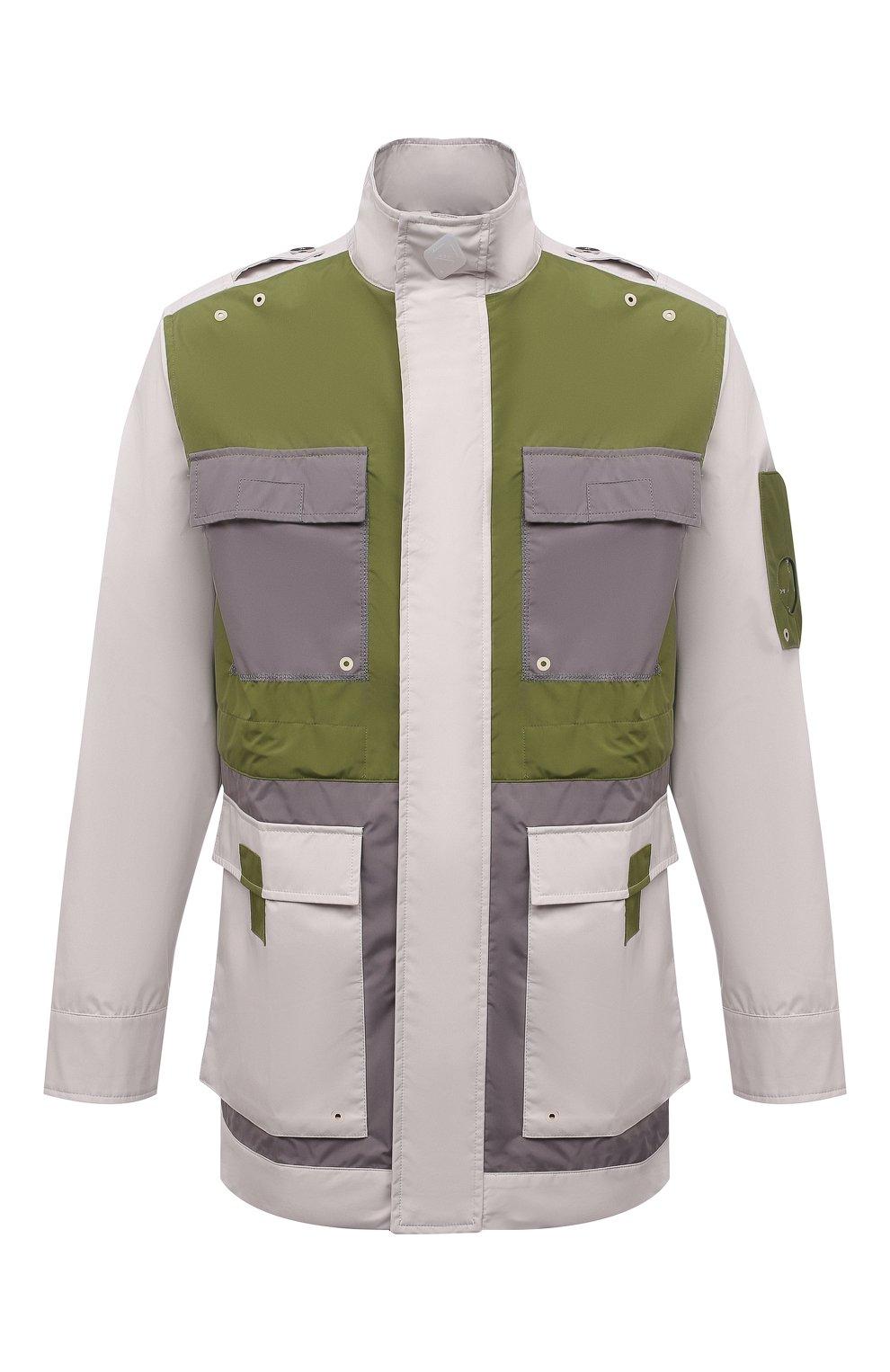 Мужская куртка A-COLD-WALL* разноцветного цвета, арт. ACWM0043   Фото 1 (Кросс-КТ: Куртка, Ветровка; Рукава: Длинные; Длина (верхняя одежда): До середины бедра; Материал внешний: Синтетический материал; Стили: Минимализм)