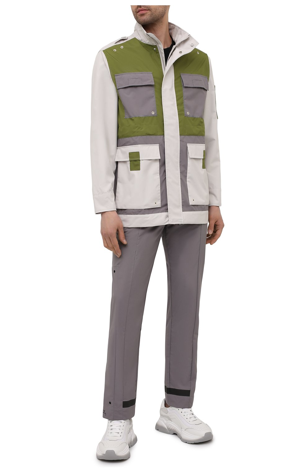 Мужская куртка A-COLD-WALL* разноцветного цвета, арт. ACWM0043   Фото 2 (Кросс-КТ: Куртка, Ветровка; Рукава: Длинные; Длина (верхняя одежда): До середины бедра; Материал внешний: Синтетический материал; Стили: Минимализм)