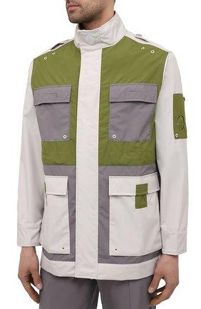 Мужская куртка A-COLD-WALL* разноцветного цвета, арт. ACWM0043   Фото 3 (Кросс-КТ: Куртка, Ветровка; Рукава: Длинные; Длина (верхняя одежда): До середины бедра; Материал внешний: Синтетический материал; Стили: Минимализм)