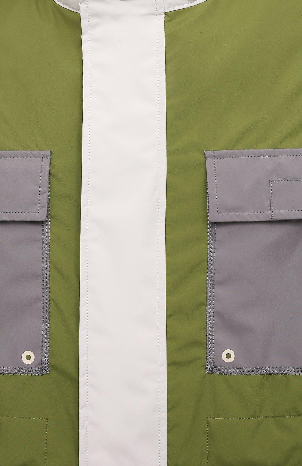 Мужская куртка A-COLD-WALL* разноцветного цвета, арт. ACWM0043   Фото 5 (Кросс-КТ: Куртка, Ветровка; Рукава: Длинные; Длина (верхняя одежда): До середины бедра; Материал внешний: Синтетический материал; Стили: Минимализм)