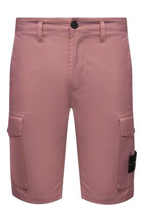 Мужские хлопковые шорты STONE ISLAND розового цвета, арт. 7415L0719   Фото 1