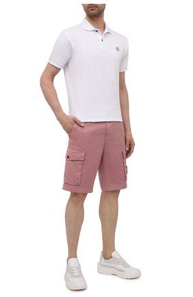Мужские хлопковые шорты STONE ISLAND розового цвета, арт. 7415L0719   Фото 2