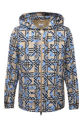 Мужская куртка BURBERRY разноцветного цвета, арт. 8038770 | Фото 1 (Кросс-КТ: Ветровка, Куртка; Стили: Кэжуэл; Материал внешний: Синтетический материал; Рукава: Длинные; Материал подклада: Синтетический материал; Длина (верхняя одежда): Короткие)