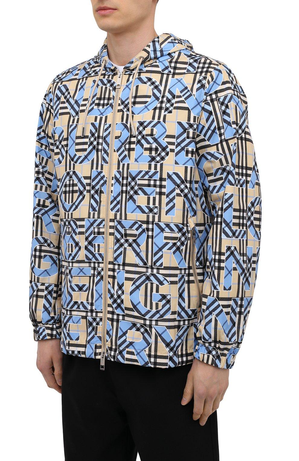 Мужская куртка BURBERRY разноцветного цвета, арт. 8038770   Фото 3