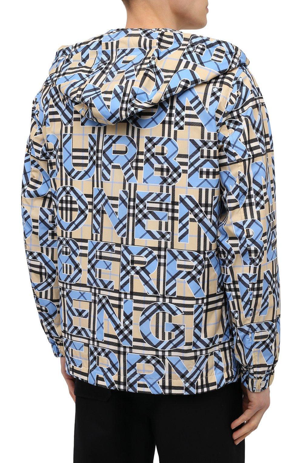 Мужская куртка BURBERRY разноцветного цвета, арт. 8038770   Фото 4
