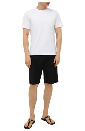 Мужские кожаные шлепанцы DSQUARED2 черного цвета, арт. FSM0044 01500001 | Фото 2
