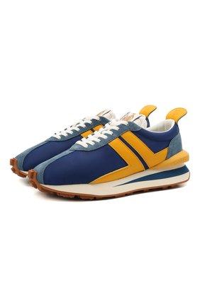 Мужские комбинированные кроссовки LANVIN синего цвета, арт. FM-SKBRUB-NYL0-E21 | Фото 1