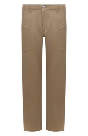 Мужские хлопковые брюки LANVIN бежевого цвета, арт. RM-TR0116-4148-E21 | Фото 1