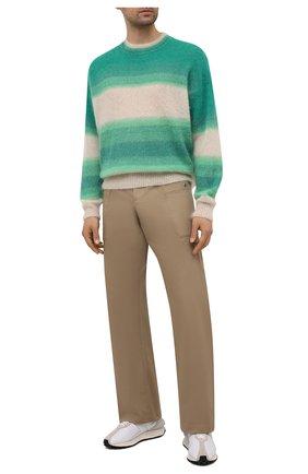 Мужские хлопковые брюки LANVIN бежевого цвета, арт. RM-TR0116-4148-E21 | Фото 2