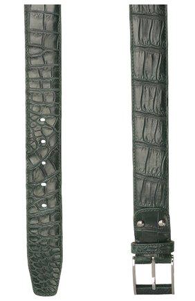 Мужской ремень из кожи крокодила ZILLI зеленого цвета, арт. MJL-NADAE-01010/0819/CP0R | Фото 2