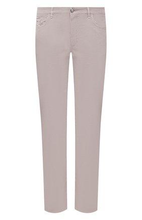 Мужские брюки из хлопка и шелка ZILLI светло-бежевого цвета, арт. M0V-D0120-C0L01/S001 | Фото 1