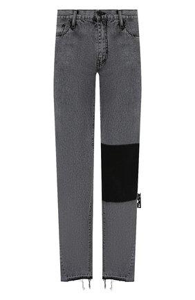 Мужские джинсы OFF-WHITE серого цвета, арт. 0MYA116S21DEN002 | Фото 1