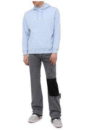 Мужские джинсы OFF-WHITE серого цвета, арт. 0MYA116S21DEN002 | Фото 2