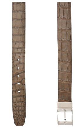 Двусторонний ремень из кожи аллигатора | Фото №2