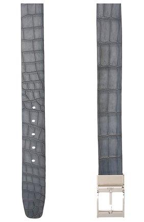 Мужской двусторонний ремень из кожи аллигатора ZILLI коричневого цвета, арт. MJL-REVRE-A0940/0071/AMIS/CP0R | Фото 5 (Случай: Повседневный)