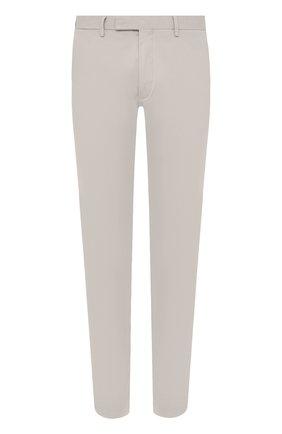 Мужские хлопковые брюки POLO RALPH LAUREN серого цвета, арт. 710644988 | Фото 1 (Длина (брюки, джинсы): Стандартные; Материал внешний: Хлопок; Стили: Кэжуэл; Случай: Повседневный; Силуэт М (брюки): Чиносы)